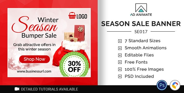 Shopping & E-commerce | Season Sale Banner (SE017) - CodeCanyon Item for Sale
