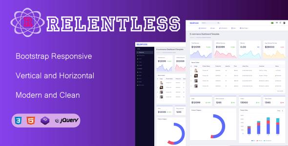Relentless- Bootstrap Admin Dashboard Responsive