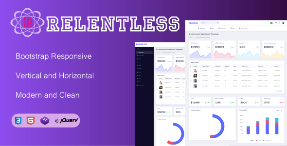 Relentless- Bootstrap Admin Dashboard Responsive - CodeCanyon Item for Sale