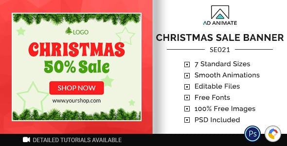 Shopping & E-commerce | Christmas Sale Banner (SE021)