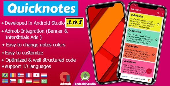 Quicknotes colorful notes