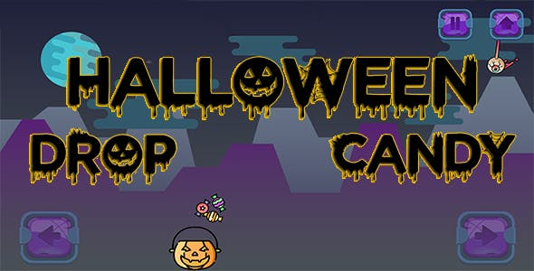 Halloween Candy Drop - HTML5 Mobile Game
