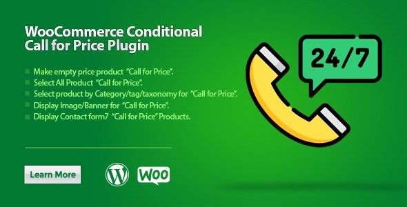 WooCommerce Conditional Call for Price - CodeCanyon Item for Sale