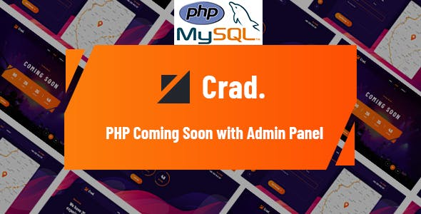Crad - PHP Coming Soon with Admin Panel
