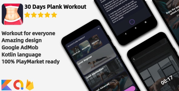 Plank Workout - Android Workout Application - CodeCanyon Item for Sale