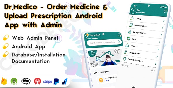 Drmedico - Online Healthcare Android App with Order Medicine and Upload Prescription - CodeCanyon Item for Sale