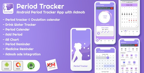 Android App Period Tracker, Ovulation Calendar & Fertility app - CodeCanyon Item for Sale