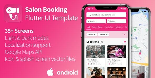 Salon Appointment Booking - Flutter UI Template - CodeCanyon Item for Sale