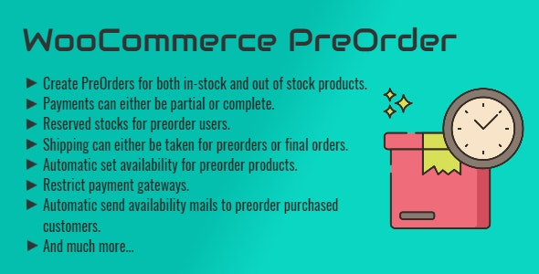 WooCommerce Pre Order   Pre Booking   Pre Release Purchase - CodeCanyon Item for Sale