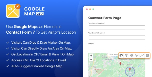 Google Maps Extension for CF7 WordPress Plugin - CodeCanyon Item for Sale