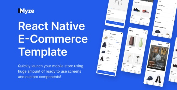 React Native E-commerce App Template with Figma - CodeCanyon Item for Sale