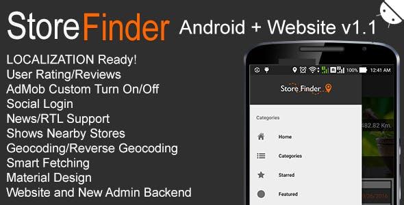 Store Finder Android + Website v1.1