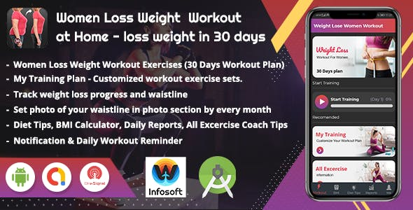 Android Women Loss Weight  Workout at Home - loss weight in 30 days (women Workout app)(V_2)