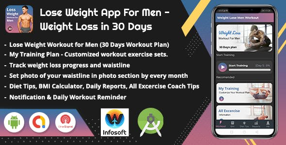 Android Lose Weight App for Men - Weight Loss in 30 Days (men workout)(V_2)