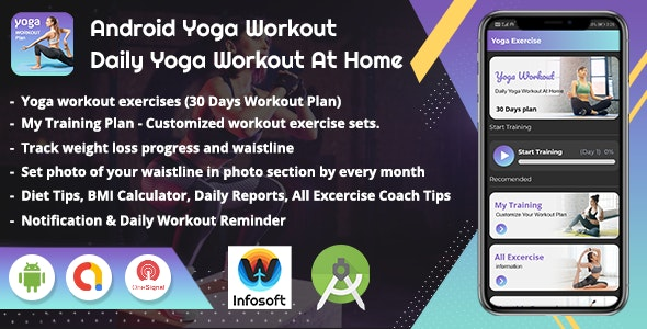 Android Yoga Workout - Daily Yoga Excercise At Home (V_2) - CodeCanyon Item for Sale