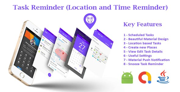 Location based Tasks Reminder and Habits Tracker App with Admob Ads