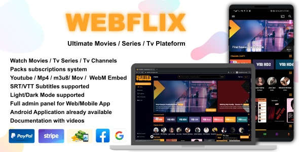 WebFlix - Movies - TV Series - Live TV Channels - Subscription - CodeCanyon Item for Sale