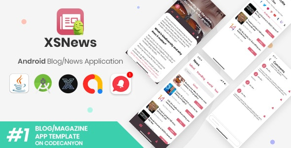 XSNews | Android News/Blog Multipurpose Application [XServer] - CodeCanyon Item for Sale