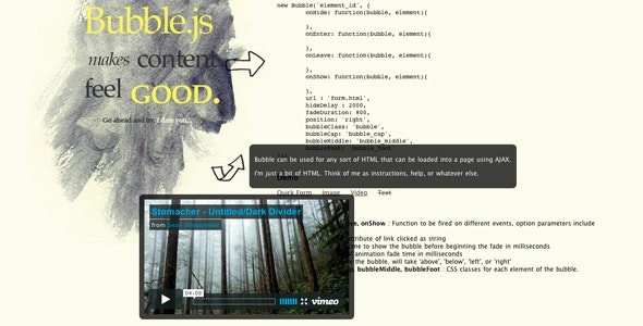 Bubble.js - Inline Content Via Ajax Made Good - CodeCanyon Item for Sale
