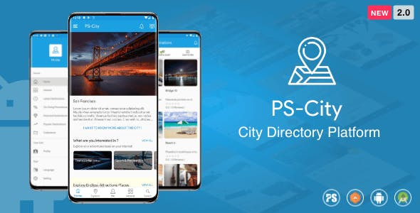 PS City Guide ( Directory City Tour Guide App For A City ) 2.0