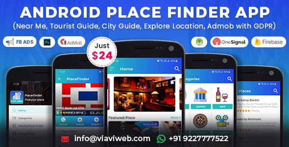 Android Place Finder (Near Me,Tourist Guide,City Guide,Explore Location, Admob with GDPR)