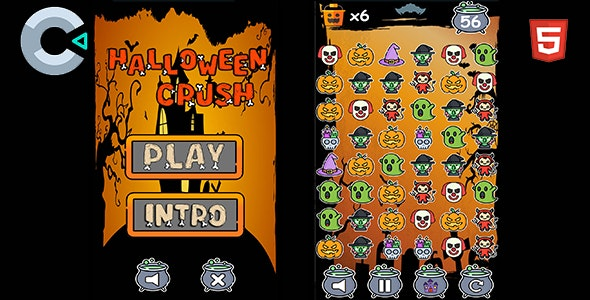 Halloween 5 in 1 Bundle - HTML5 Mobile Game - 3