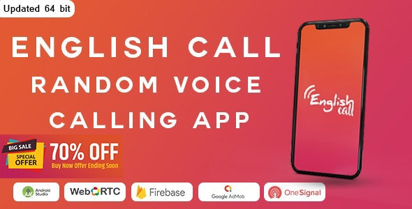 Random Voice Call App With Strangers - CodeCanyon Item for Sale
