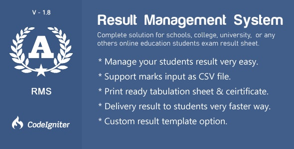 Result Management  System - CodeCanyon Item for Sale