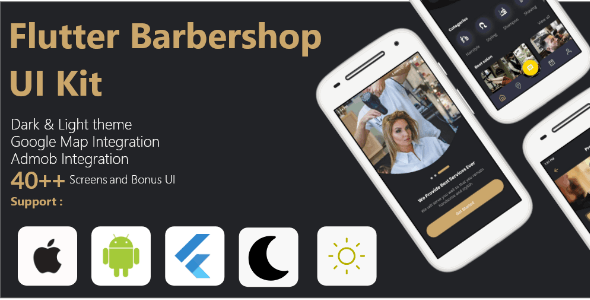 Flutter Barbershop UI Kit
