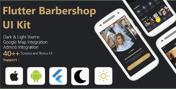 Flutter Barbershop UI Kit - CodeCanyon Item for Sale