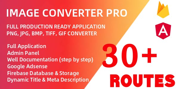 Image Converter Pro (Angular 10 & Firebase) Full Production Ready Application With Admin Panel