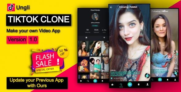 Ungli Short Video Creating App - Tiktok Clone App Code