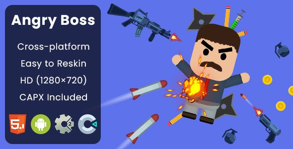 Angry Boss - HTML5 Game | Construct 2 & Construct 3 - CodeCanyon Item for Sale