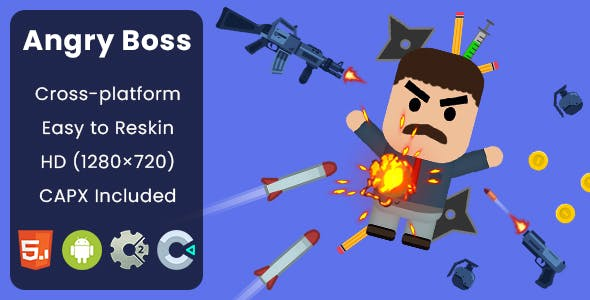 Angry Boss - HTML5 Game | Construct 2 & Construct 3