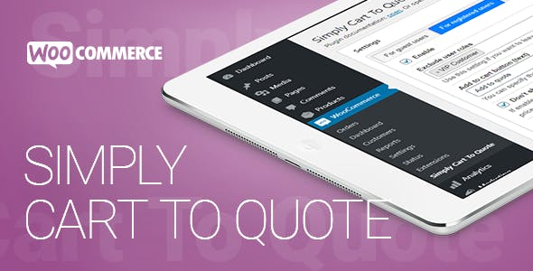 WooCommerce - Simply Cart To Quote