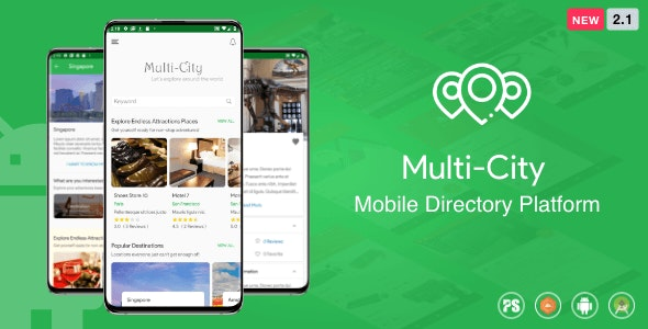 Multi-City ( City Directory Android App with Unlimited Cities ) 2.1 - CodeCanyon Item for Sale