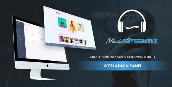 Streamz- A music streaming website with admin panel