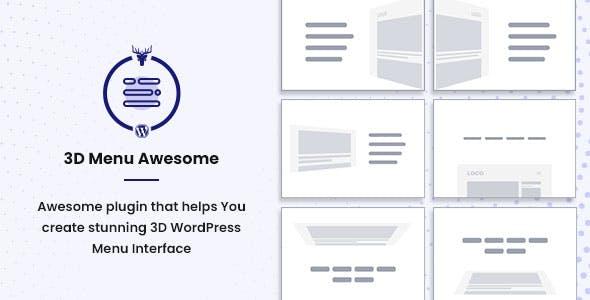 Stunning 3D Off Canvas Menu WordPress Plugin - 3D Menu Awesome