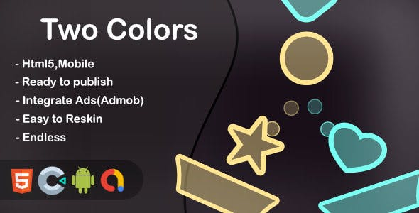 Two Colors (Html5 + Construct 3 +Mobile)