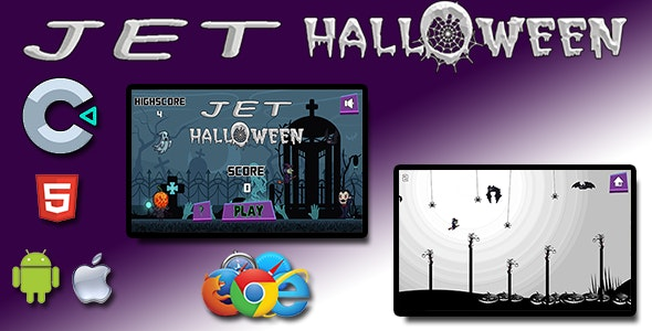 Halloween 5 in 1 Bundle - HTML5 Mobile Game - 2