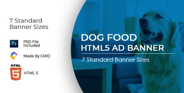 Animated Html5 Dog Food Ad Banners Template