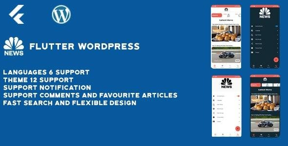 Flutter wordpress app (Android & ios) - CodeCanyon Item for Sale