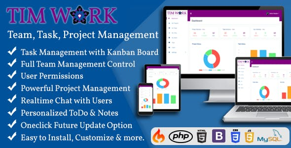 TimWork - Team Collaboration System and Project Management Tool