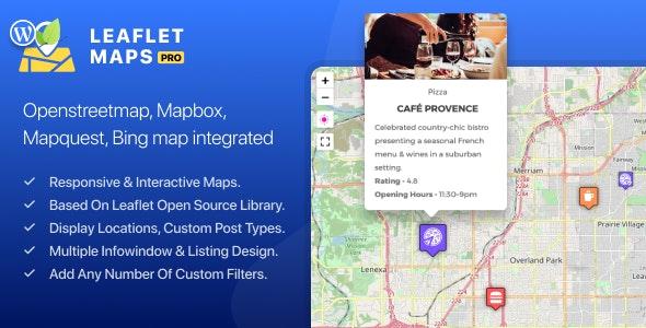WP Leaflet Maps Pro - CodeCanyon Item for Sale