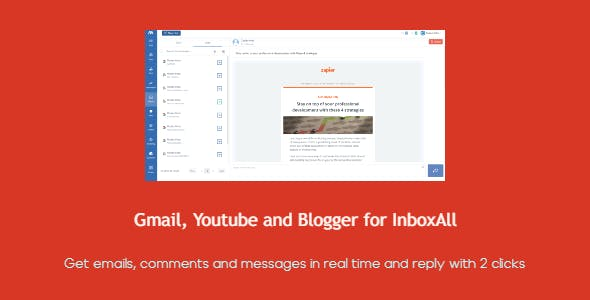 Blogger, Gmail and Youtube for InboxAll