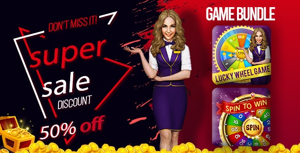 Mega Game Bundle For Spin And Win - CodeCanyon Item for Sale