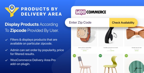 WooCommerce Products by Delivery Area - CodeCanyon Item for Sale