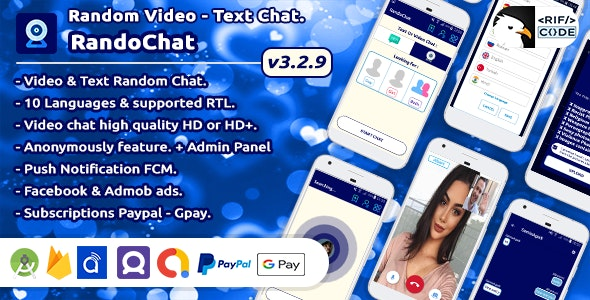 Rando Chat - Live Random Video Calls - Dating - Chating - CodeCanyon Item for Sale