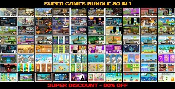 80 HTML5 GAMES!!! SUPER BUNDLE №4 (Construct 3 | Construct 2 | Capx)