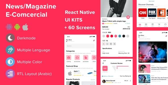 Mazi - mobile React Native UI KIT for E-commerce   News & Magazine - CodeCanyon Item for Sale